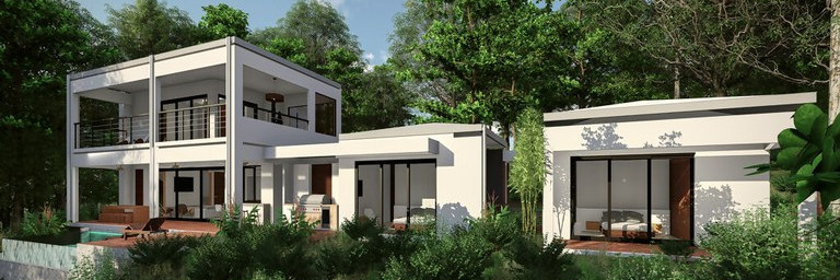 Customized houses in rainforest reserve with an ocean view for sale in puntarenas Costa Rica